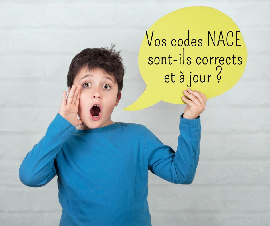 Vos codes NACE sont-ils corrects et à jour ?